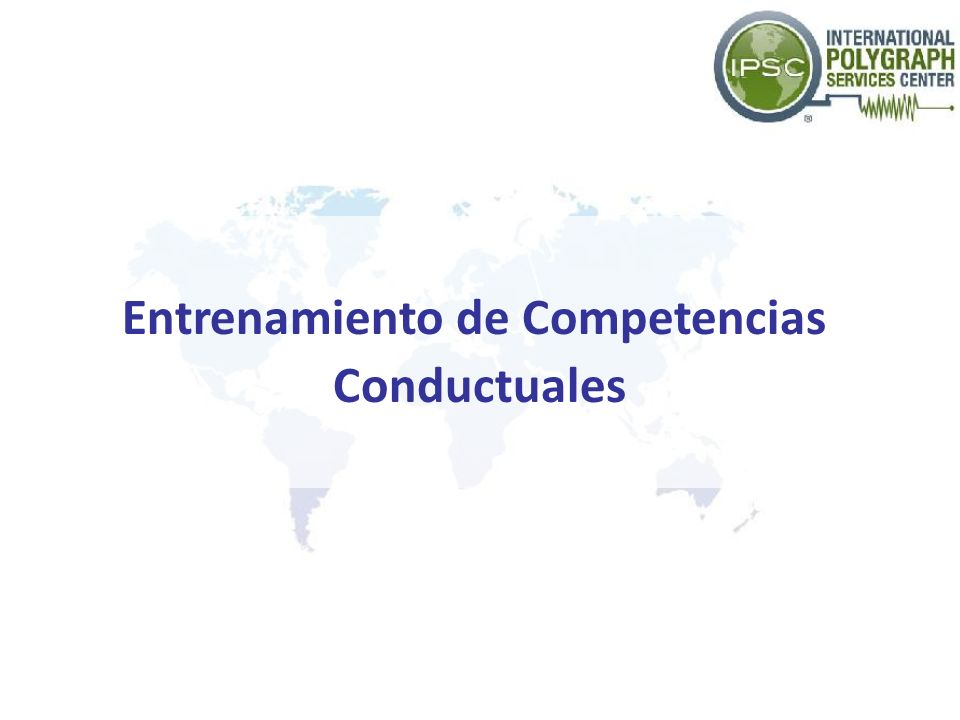 Entrenamiento de Competencias Conductuales