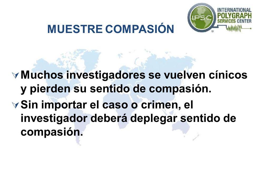 MUESTRE COMPASIÓN Muchos investigadores se vuelven cínicos y pierden su sentido de compasión.