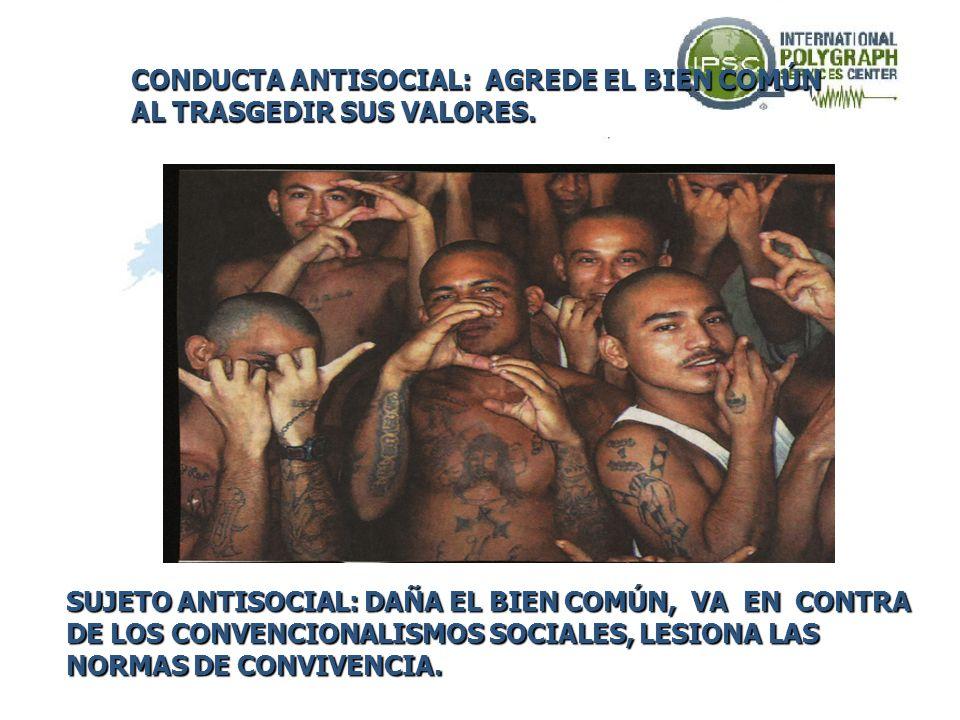 CONDUCTA PARA SOCIAL: SE DESARROLLA DENTRO DEL MARCO SOCIAL DENTRO DEL MARCO SOCIAL SIN AGREDIRLO, PERO SIN ACEPTAR SUS VALORES COMUNES. SUJETO PARASO