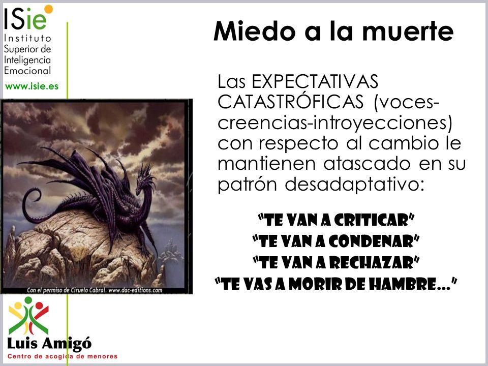 Iñaki Lascaray ilascaray@isie.es www.isie.es Miedo a la muerte Las EXPECTATIVAS CATASTRÓFICAS (voces- creencias-introyecciones) con respecto al cambio