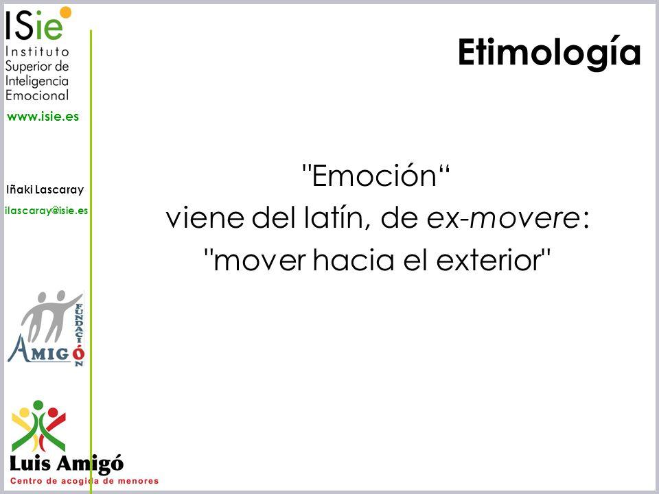 Iñaki Lascaray ilascaray@isie.es www.isie.es Etimología