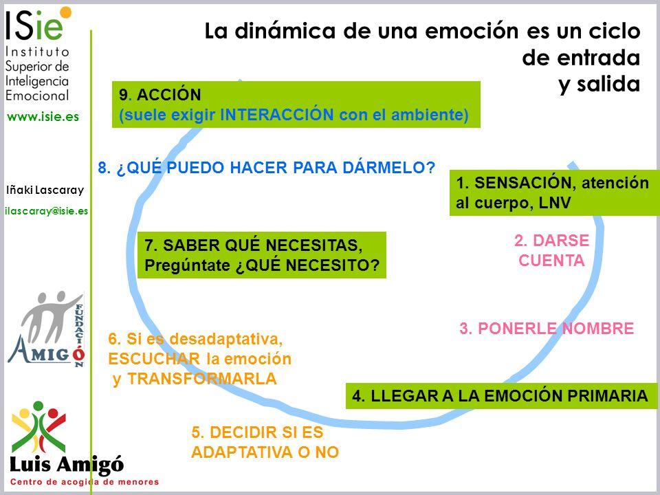 Iñaki Lascaray ilascaray@isie.es www.isie.es 1. SENSACIÓN, atención al cuerpo, LNV 2. DARSE CUENTA 3. PONERLE NOMBRE 8. ¿QUÉ PUEDO HACER PARA DÁRMELO?