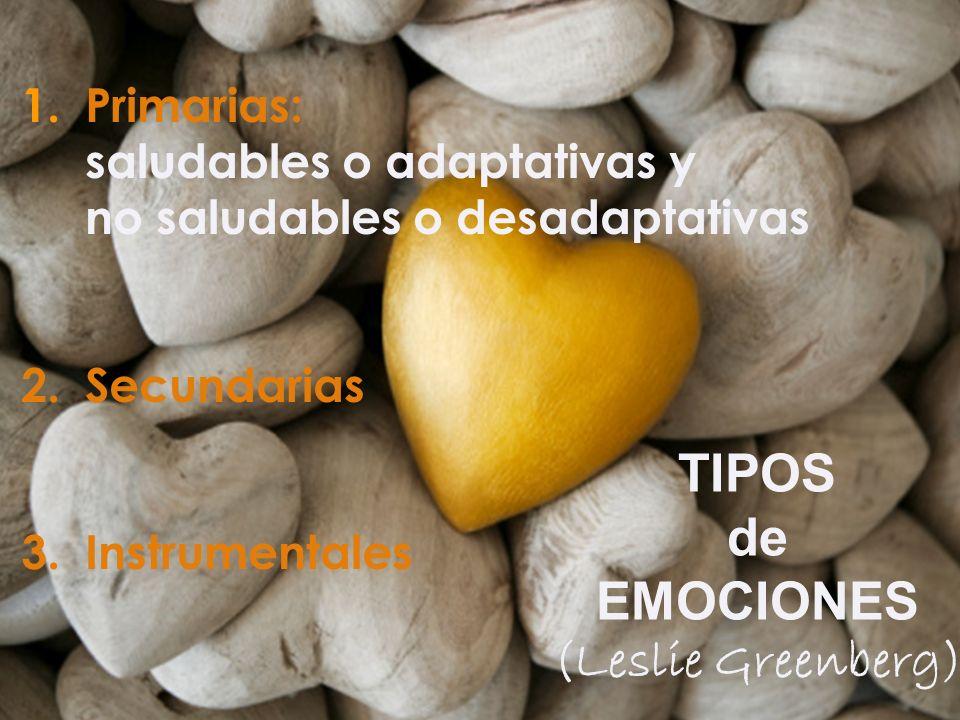 Iñaki Lascaray ilascaray@isie.es www.isie.es 1.Primarias: saludables o adaptativas y no saludables o desadaptativas 2.Secundarias 3.Instrumentales TIP