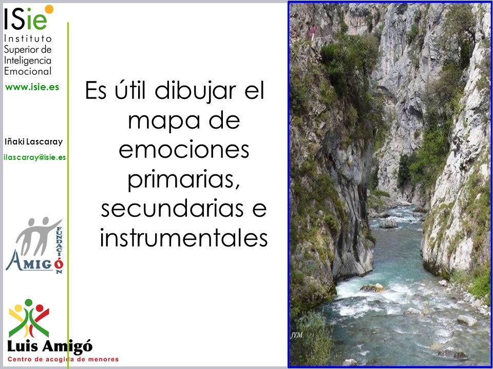 Iñaki Lascaray ilascaray@isie.es www.isie.es Es útil dibujar el mapa de emociones primarias, secundarias e instrumentales