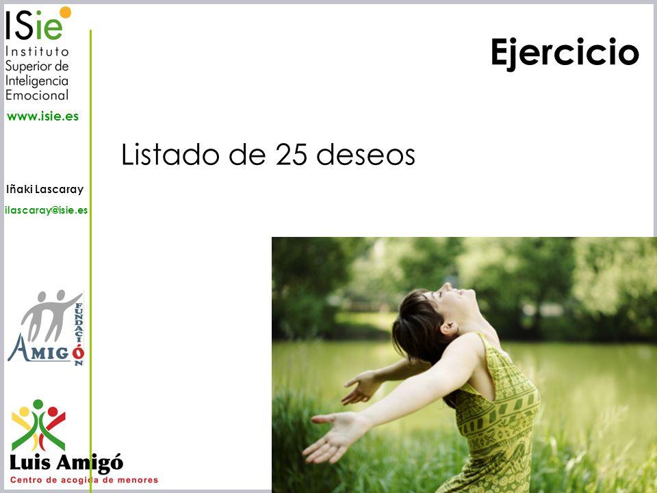 Iñaki Lascaray ilascaray@isie.es www.isie.es Ejercicio Listado de 25 deseos