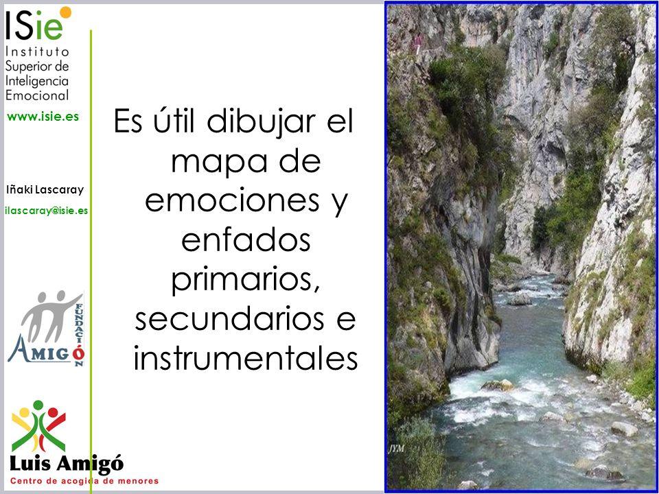 Iñaki Lascaray ilascaray@isie.es www.isie.es Es útil dibujar el mapa de emociones y enfados primarios, secundarios e instrumentales