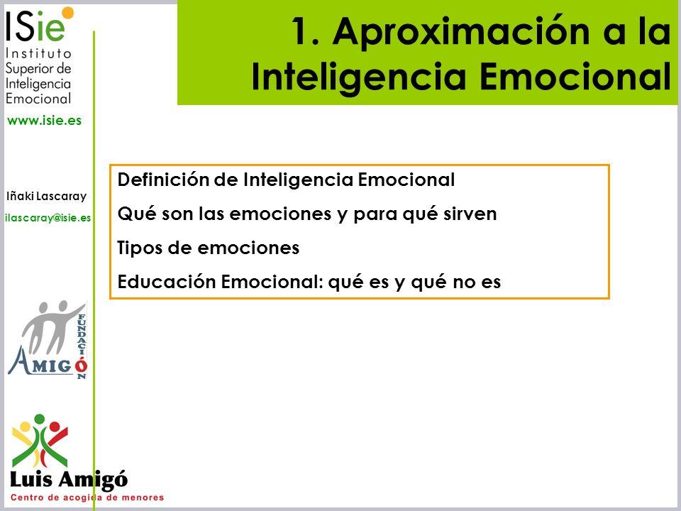 Iñaki Lascaray ilascaray@isie.es www.isie.es En-pathos (dentro del sentimiento) Ponerse en la situación existencial del otro.