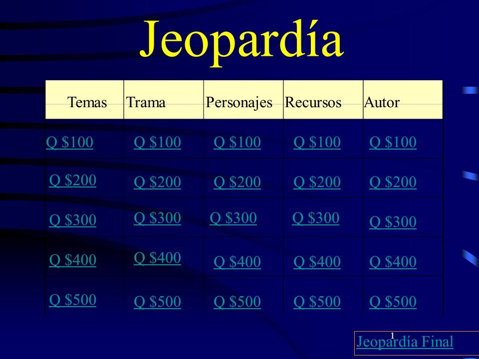 22 $100 Personajes La primera persona que Don Juan engaña