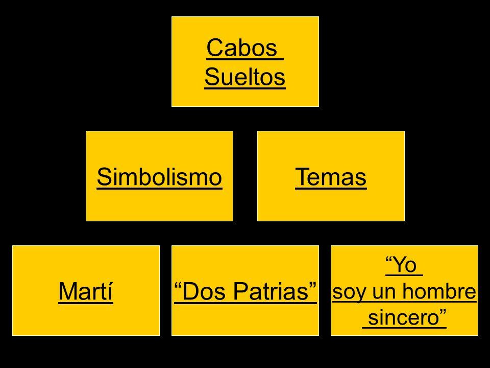 SimbolismoTemas Cabos Sueltos Yo soy un hombre sincero Dos PatriasMartí