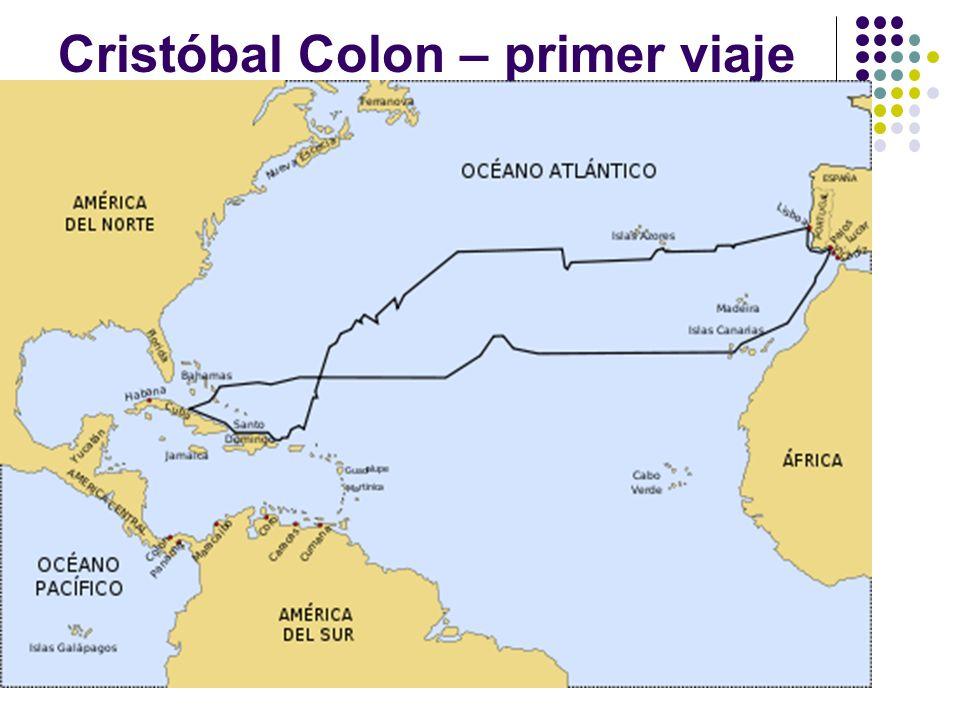 Cristóbal Colon – primer viaje