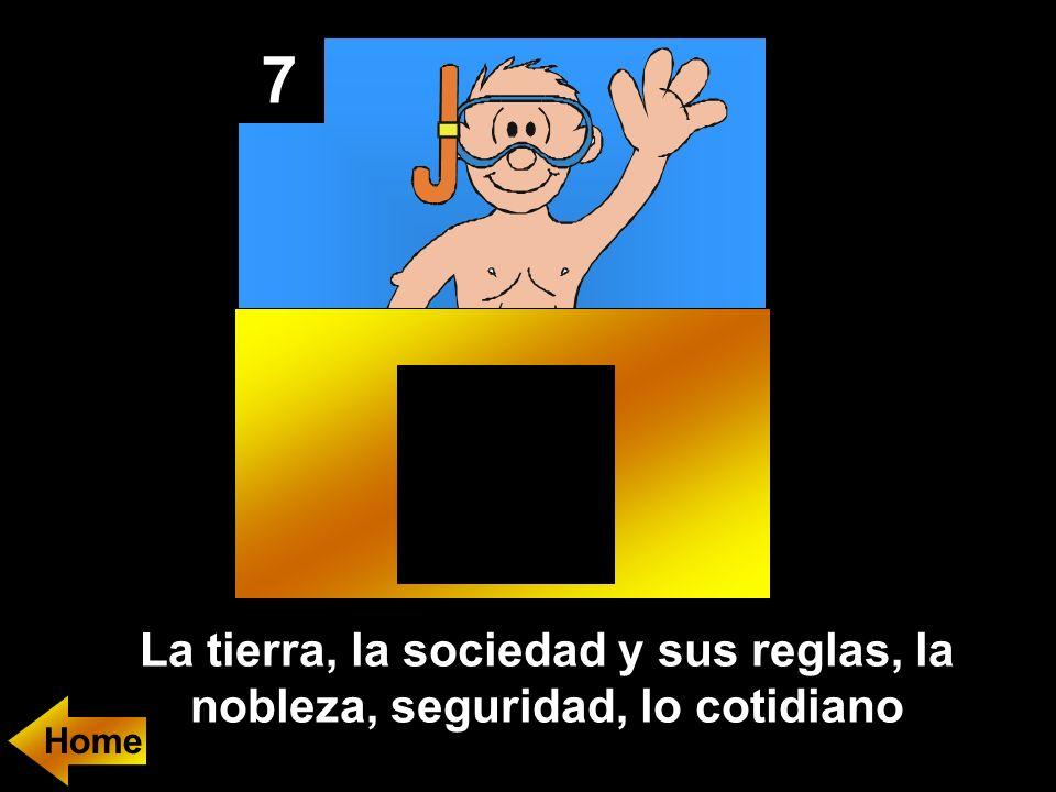7 La tierra, la sociedad y sus reglas, la nobleza, seguridad, lo cotidiano Home