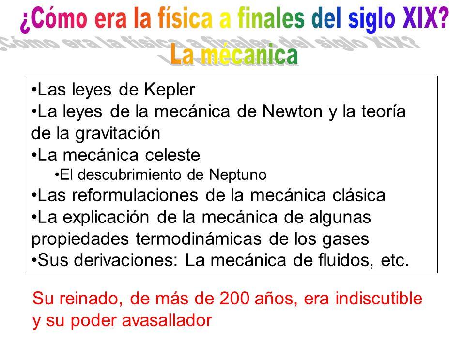 Las leyes de Kepler La leyes de la mecánica de Newton y la teoría de la gravitación La mecánica celeste El descubrimiento de Neptuno Las reformulacion