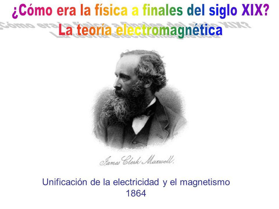 Unificación de la electricidad y el magnetismo 1864
