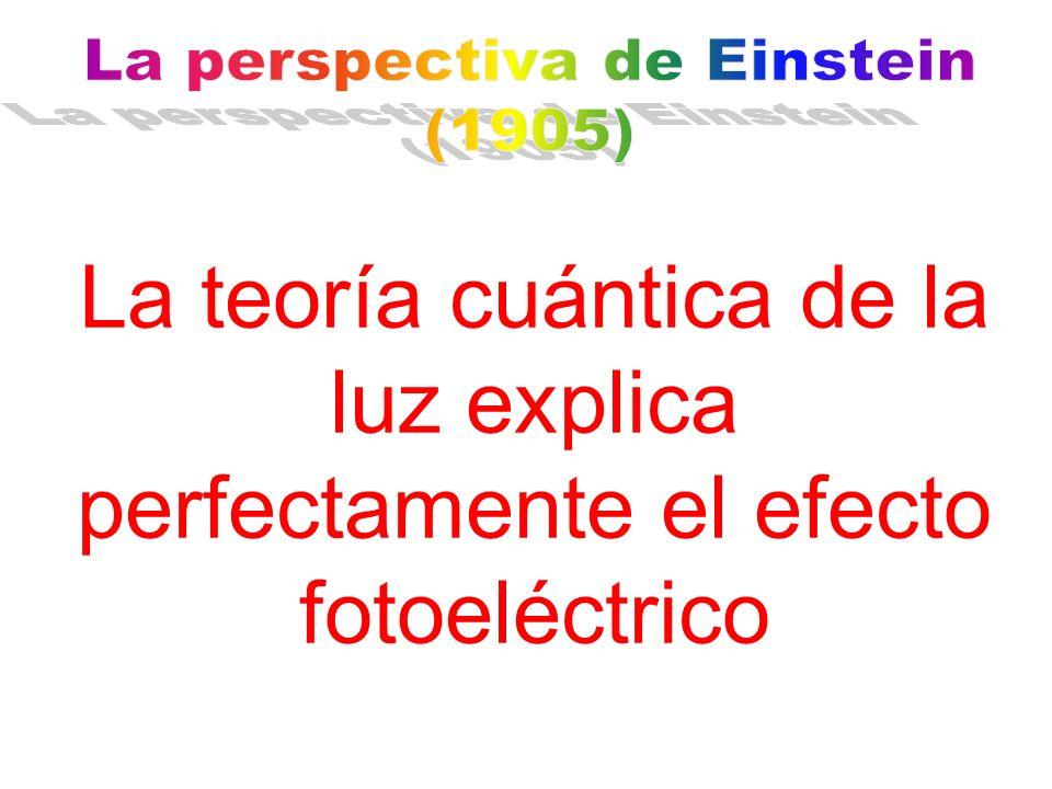 La teoría cuántica de la luz explica perfectamente el efecto fotoeléctrico