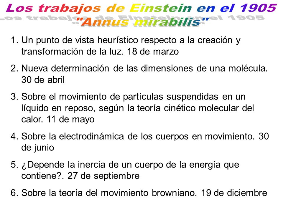 Primera derivación de la distribución de Planck La ley de Bohr para las frecuencias atómicas El balance de momentos exige que el fotón emitido sea unidireccional, con momento