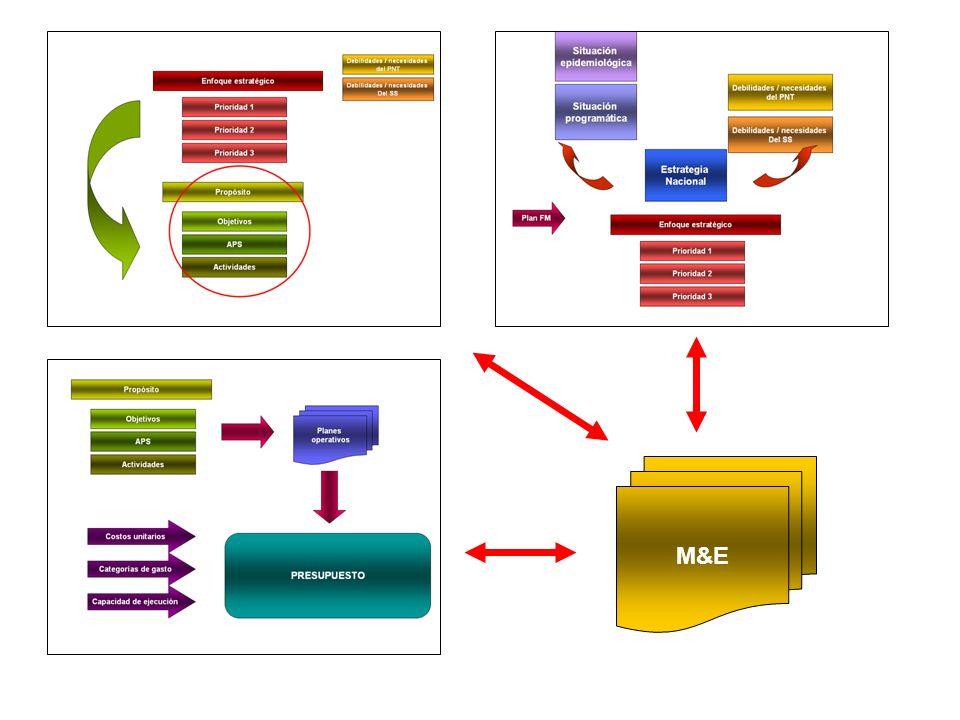 Situación epidemiológica Situación programática Estrategia Nacional Debilidades / necesidades del PNT Debilidades / necesidades Del SS Prioridades Perspectiva estratégica Prioridades Objetivos APS Actividades Propósito Planes operativos PRESUPUESTO Costos unitarios Categorías de gasto Capacidad ejecución M&E R 3,4,5 otras 3.2 - 4.5.3 – 4.6.1 - 4.6.2 4.1* - 4.2.1 4.3.1 4.3.2 – 4.3.3 – 4.5.5 4.4 – Anexo A Resumen, 4.5.1 – Presupuesto, Anexo A (4B) Indicadores: 4.4 - 4.5.1 Anexo A Sistema:4.8.1 – 4.8.2 – 4.8.3 4.9 – 4.10 - Reportes 5.1 – 5.2 5.3 – 5.4 – Anexo presupuesto Anexo Plan de acción 4.1 - 4.2.2