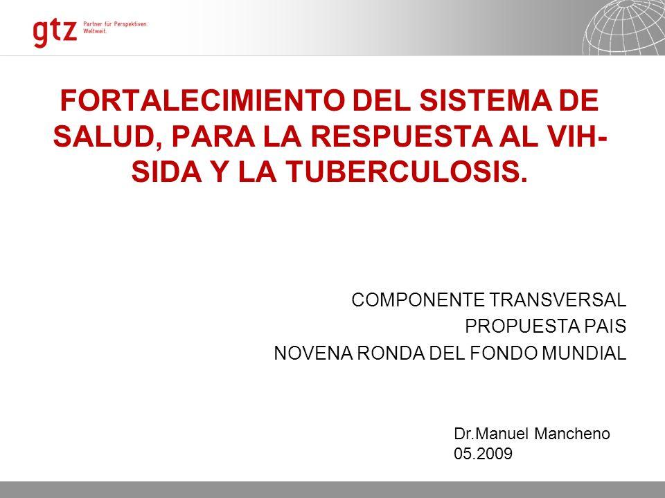 11.02.2014 Seite 1 FORTALECIMIENTO DEL SISTEMA DE SALUD, PARA LA RESPUESTA AL VIH- SIDA Y LA TUBERCULOSIS.
