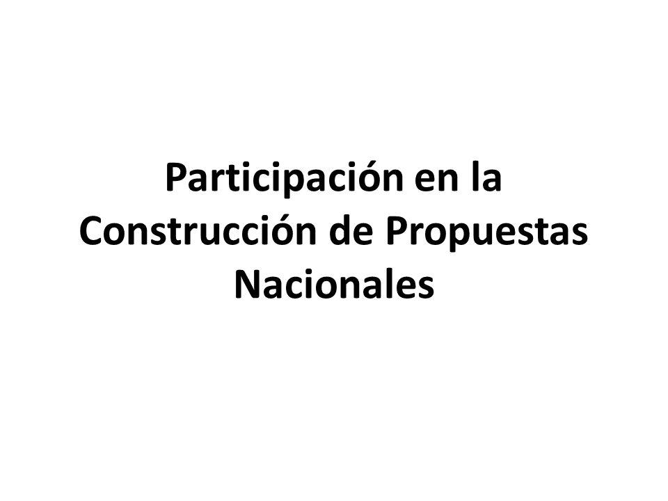 Participación en la Construcción de Propuestas Nacionales