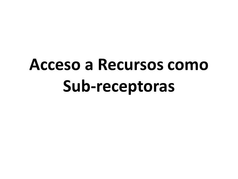 Acceso a Recursos como Sub-receptoras