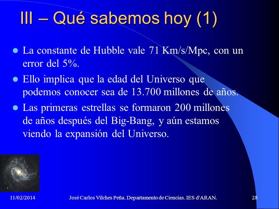 11/02/2014José Carlos Vilches Peña. Departamento de Ciencias. IES d'ARAN.27 IID – La Radiación Cósmica de Fondo (2) Temperatura de la Tierra, mes de j