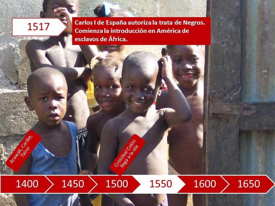 140014501500155016001650 Carlos I de España autoriza la trata de Negros.