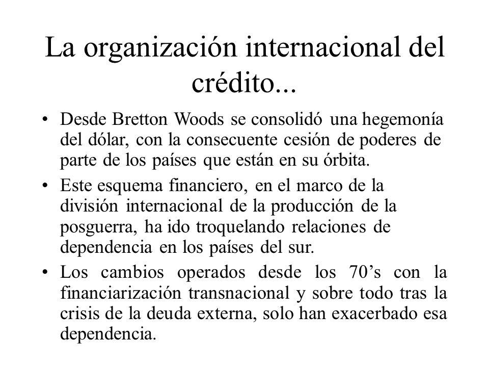 La organización internacional del crédito...