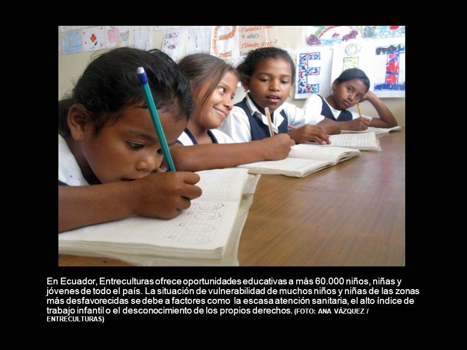 En Ecuador, Entreculturas ofrece oportunidades educativas a más 60.000 niños, niñas y jóvenes de todo el país.