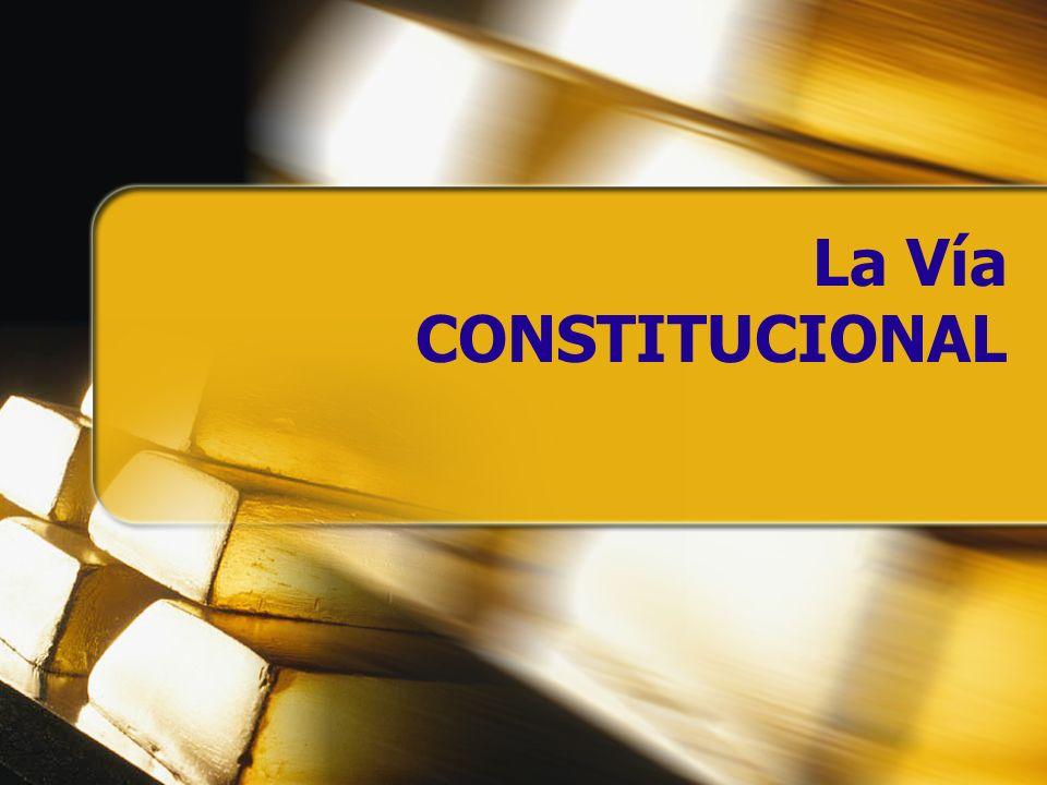 La Vía CONSTITUCIONAL