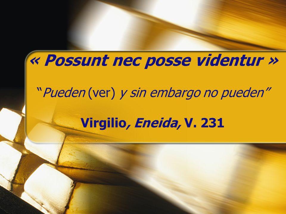« Possunt nec posse videntur »Pueden (ver) y sin embargo no pueden Virgilio, Eneida, V. 231