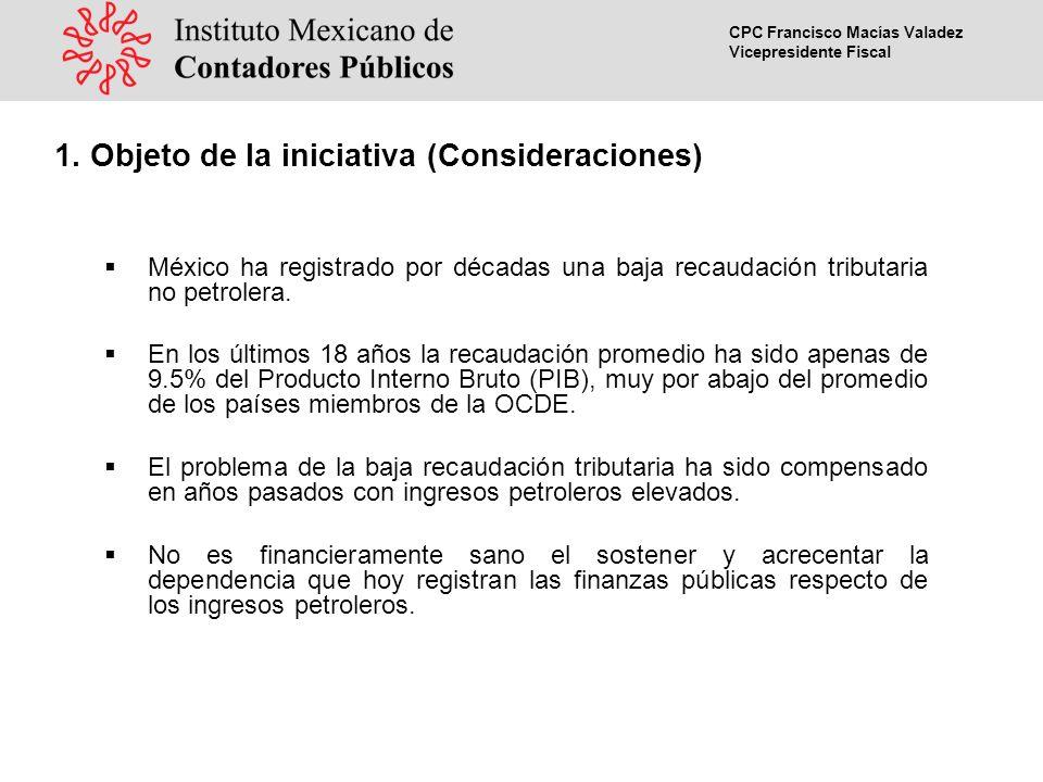 CPC Francisco Macías Valadez Vicepresidente Fiscal Gravamen de control considerado como un impuesto mínimo y sustitución del impuesto al activo.