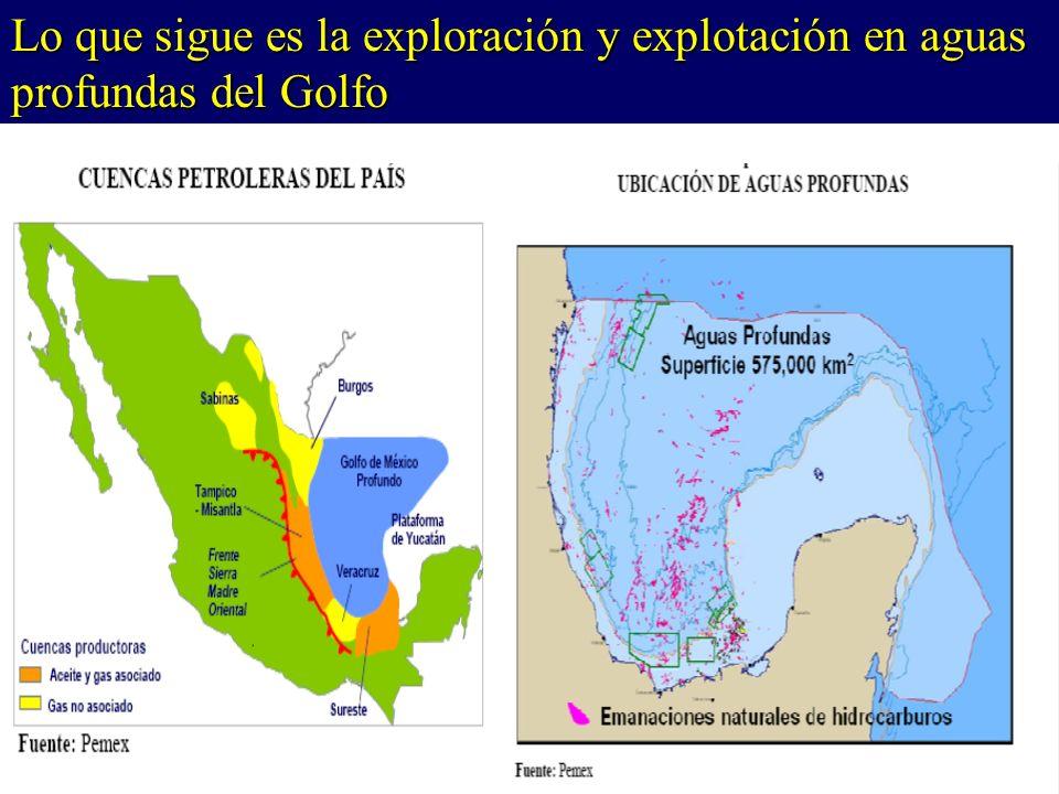 Lo que sigue es la exploración y explotación en aguas profundas del Golfo