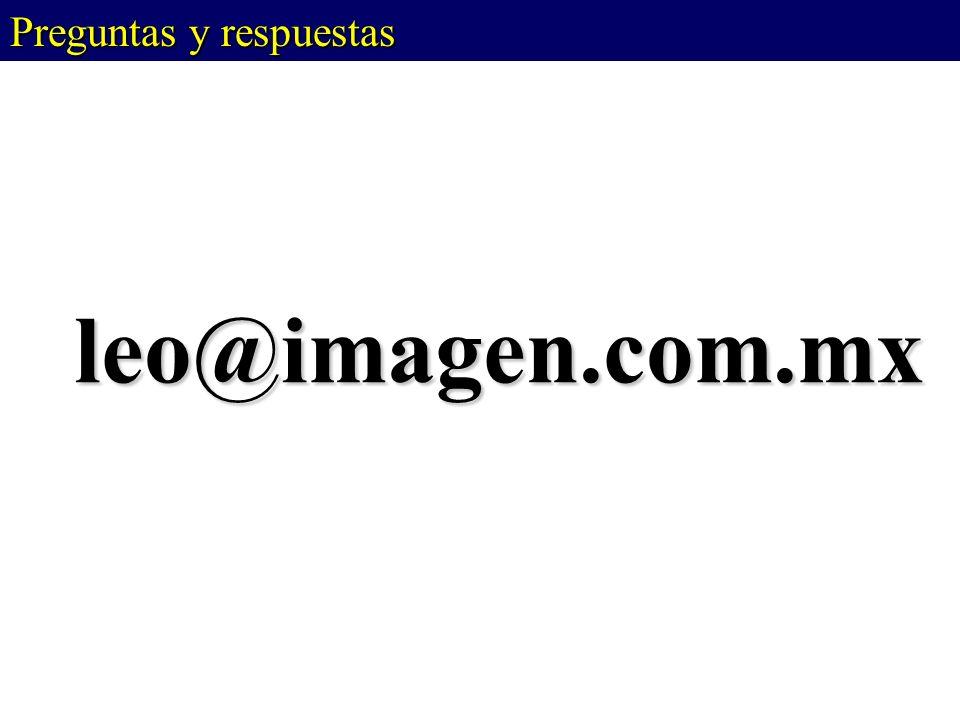 leo@imagen.com.mx Preguntas y respuestas