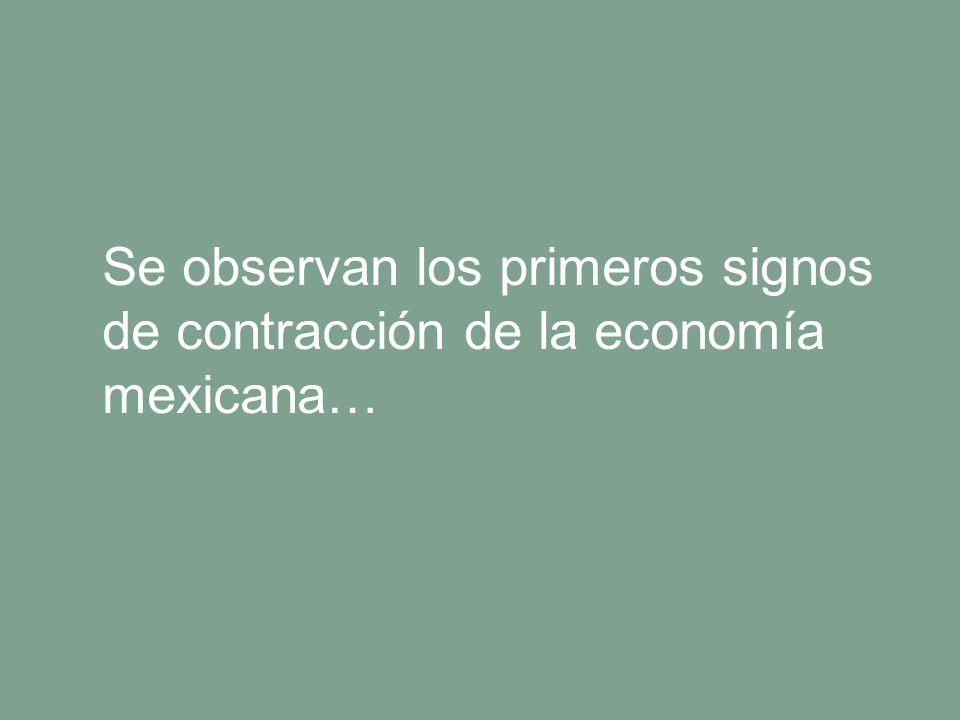 Manpower Se observan los primeros signos de contracción de la economía mexicana…