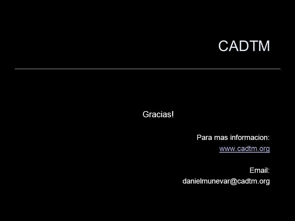 CADTM Gracias! Para mas informacion: www.cadtm.org Email: danielmunevar@cadtm.org