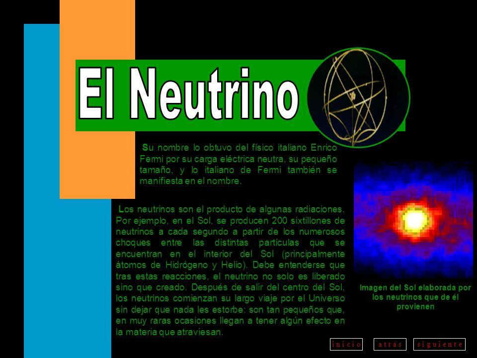 a t r á ss i g u i e n t ei n i c i o Su nombre lo obtuvo del físico italiano Enrico Fermi por su carga eléctrica neutra, su pequeño tamaño, y lo ital