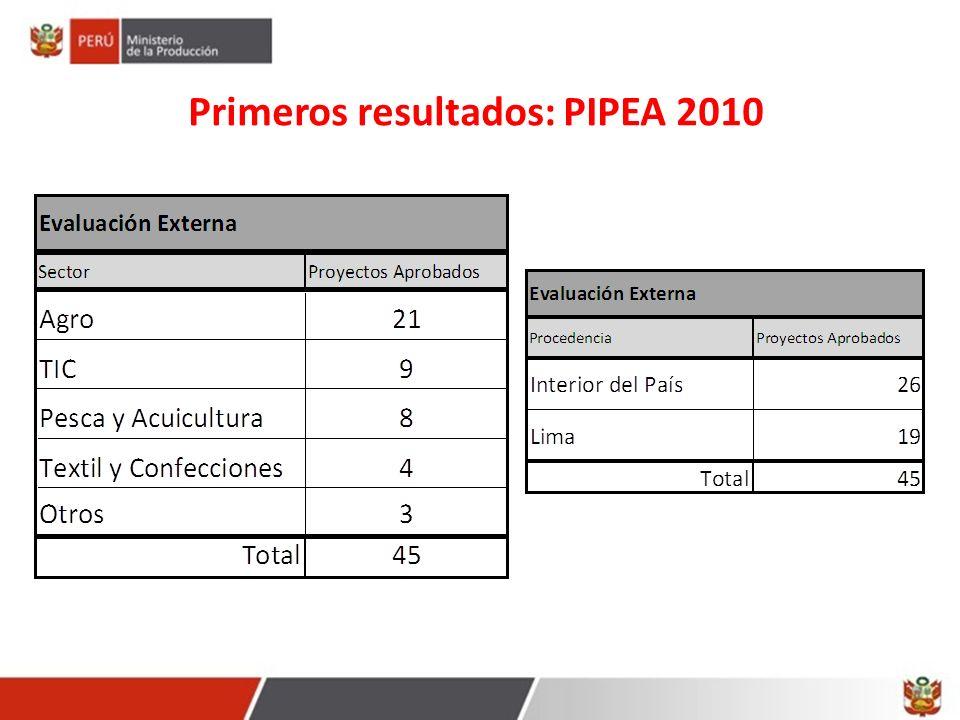 Próximas Convocatorias 2010 Mayor información: www.innovateperu.pe consultas@innovateperu.pe Tipo I: Proyectos de Innovación Productiva de Empresas Individuales – PIPEI.