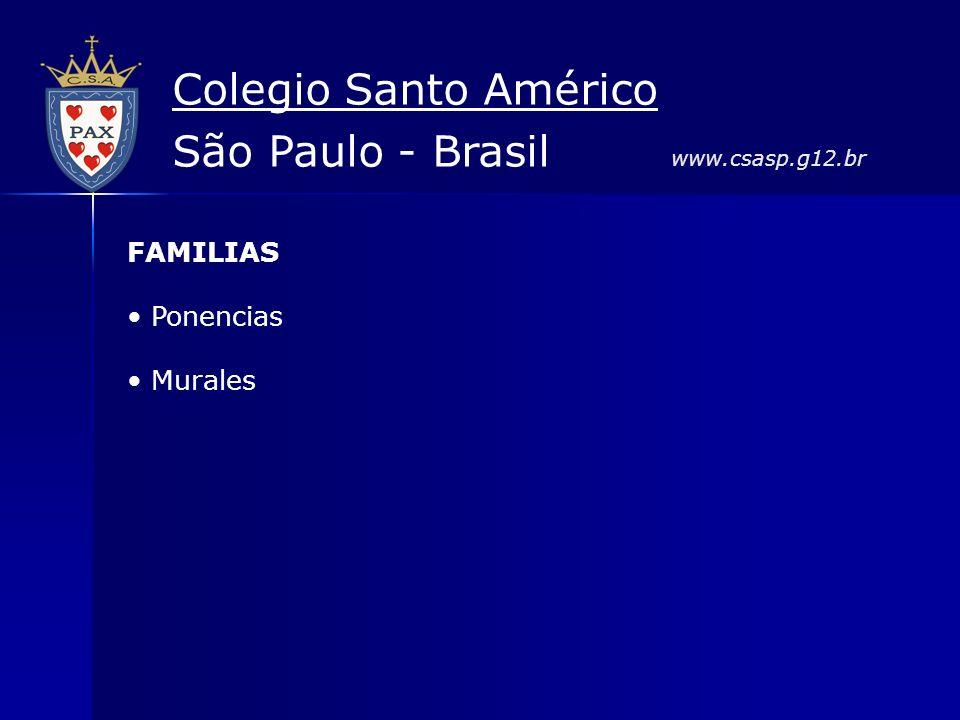 FAMILIAS Ponencias Murales Colegio Santo Américo São Paulo - Brasil www.csasp.g12.br