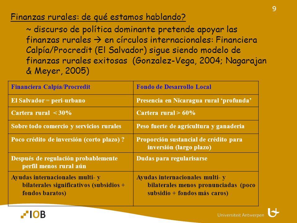 9 Finanzas rurales: de qué estamos hablando.