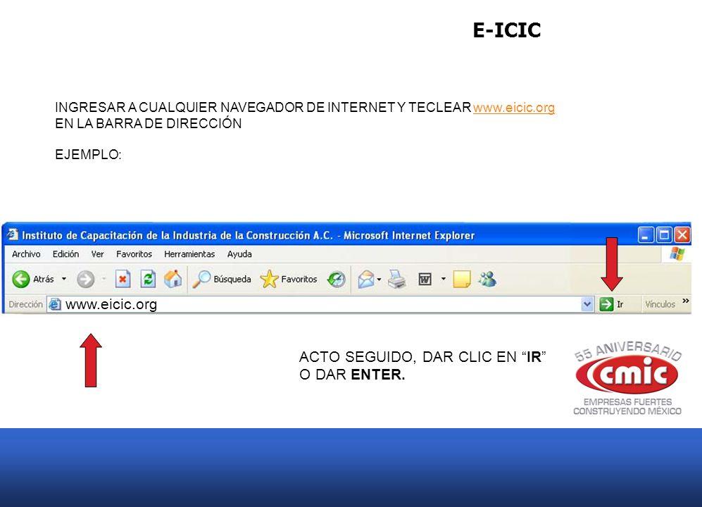E-ICIC Le desplegara la página de e-learning del Instituto de Capacitación de la Industria de la Construcción.