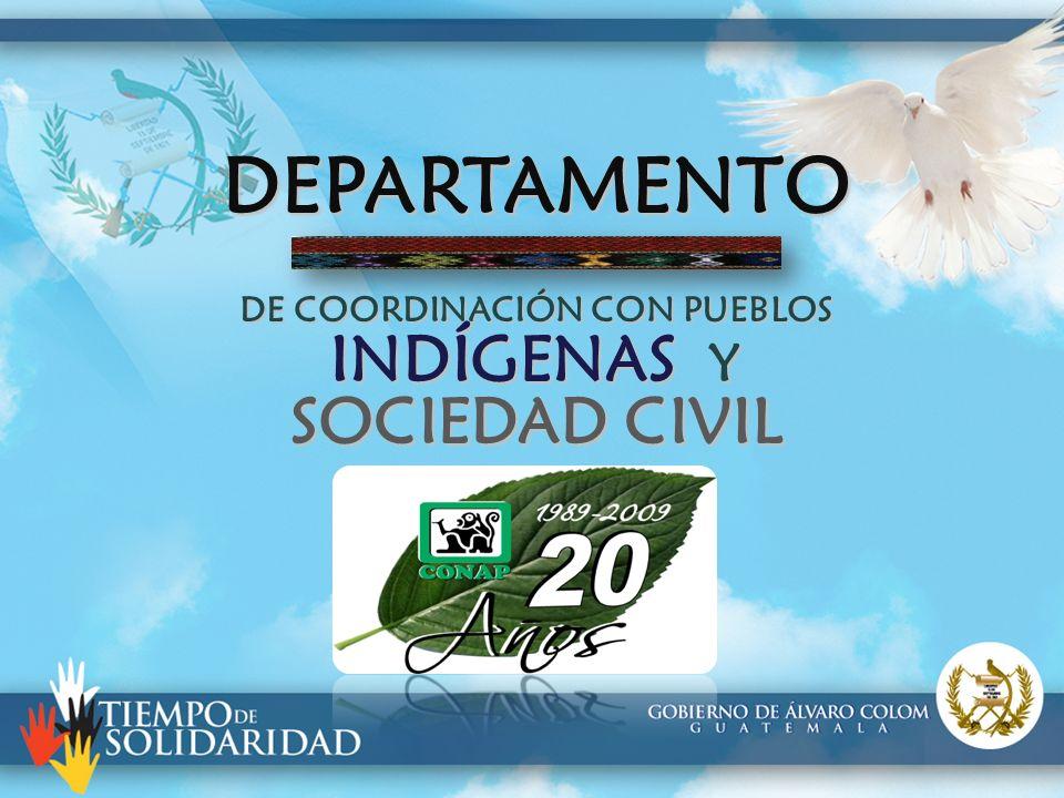 DEPARTAMENTO DE COORDINACIÓN CON PUEBLOS INDÍGENAS Y SOCIEDAD CIVIL
