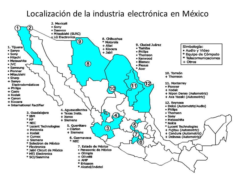 Localización de la industria electrónica en México