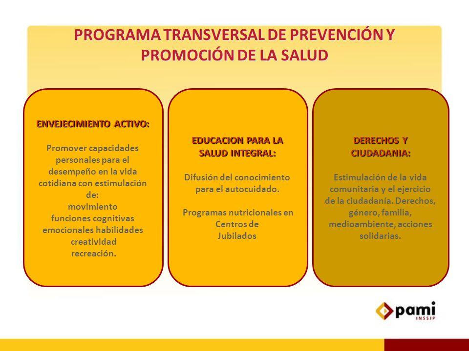 . ENVEJECIMIENTO ACTIVO: Promover capacidades personales para el desempeño en la vida cotidiana con estimulación de: movimiento funciones cognitivas e