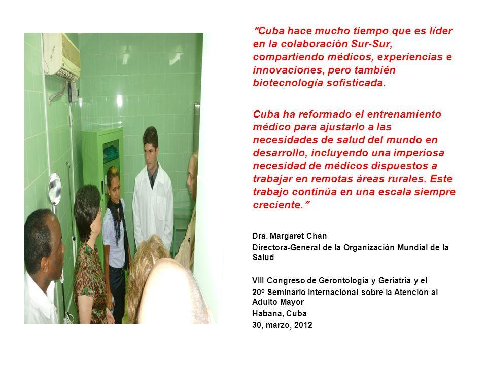 Cuba hace mucho tiempo que es líder en la colaboración Sur-Sur, compartiendo médicos, experiencias e innovaciones, pero también biotecnología sofistic