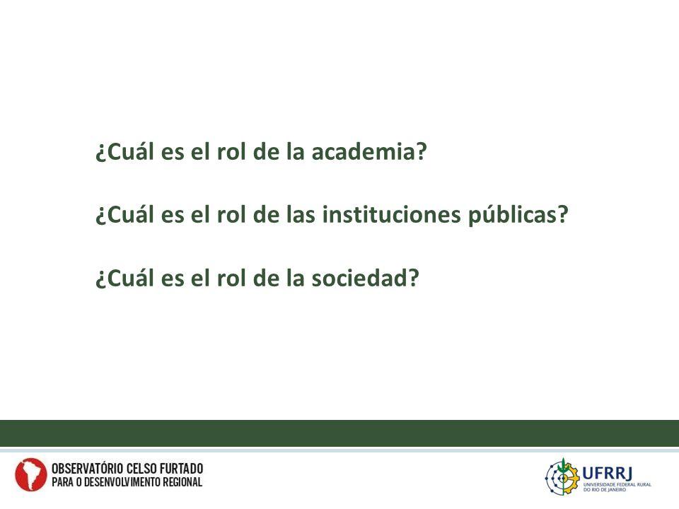 ¿Cuál es el rol de la academia. ¿Cuál es el rol de las instituciones públicas.