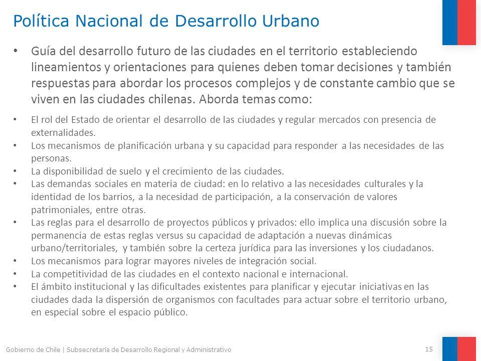 Política Nacional de Desarrollo Urbano Guía del desarrollo futuro de las ciudades en el territorio estableciendo lineamientos y orientaciones para qui