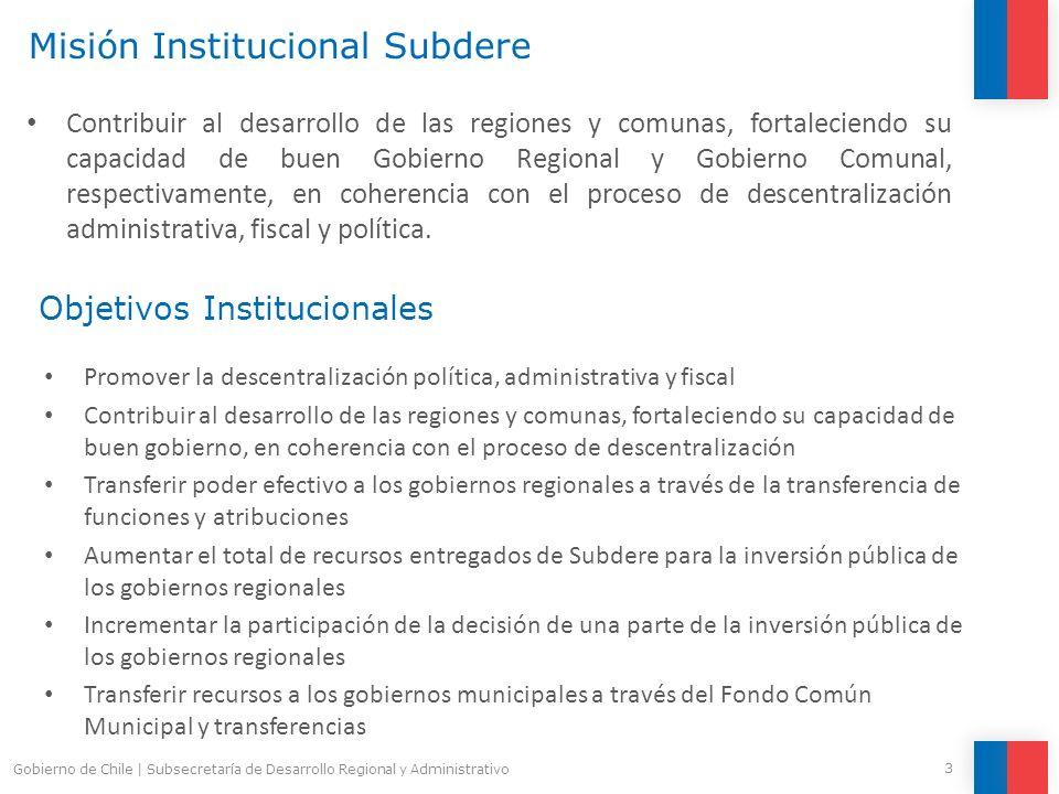 Objetivos Política Nacional de Desarrollo Regional Generar una propuesta de Política Nacional de Desarrollo Regional que establezca los Principios Rectores, Visión, Objetivos, Lineamientos y Modelo Territorial de Desarrollo del País y sus Regiones de largo plazo para Chile.