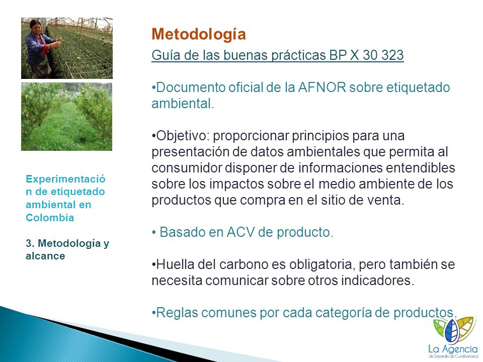 Experimentació n de etiquetado ambiental en Colombia 3.