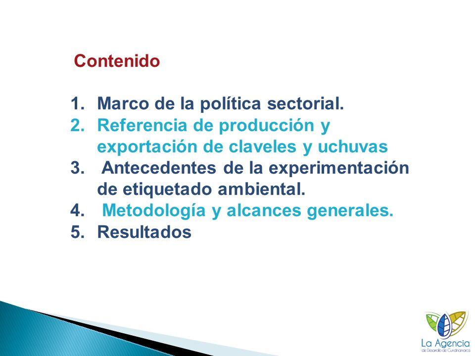 Contenido 1.Marco de la política sectorial.