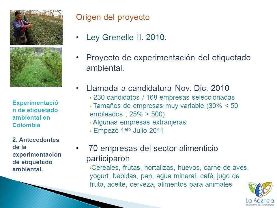 20 Experimentació n de etiquetado ambiental en Colombia 3.