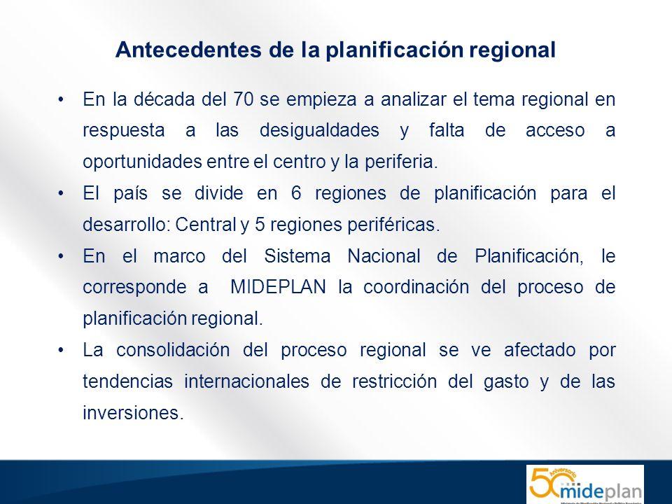 En la década del 70 se empieza a analizar el tema regional en respuesta a las desigualdades y falta de acceso a oportunidades entre el centro y la periferia.